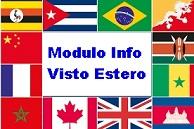 modulo info visto estero